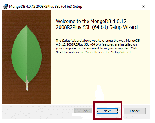 Welcome page MongoDB installation - Intellipaat