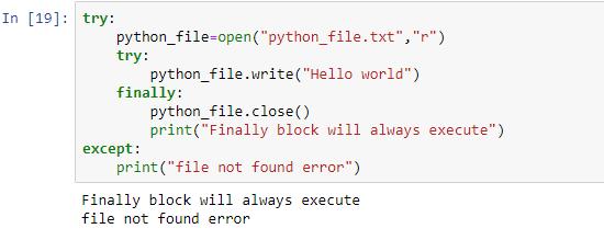 file not found error