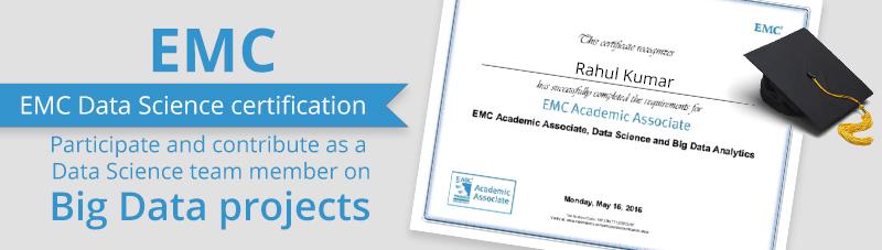 EMC Data Science and Big Data Analytics Certifications