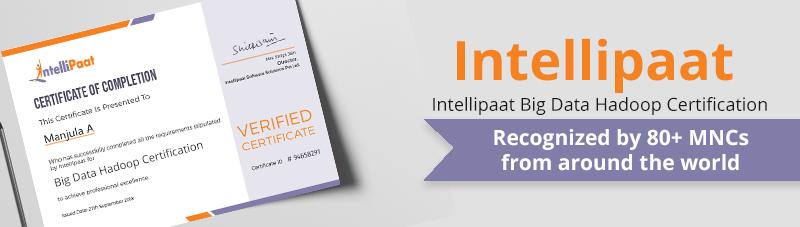 Intellipaat Big Data Hadoop certification
