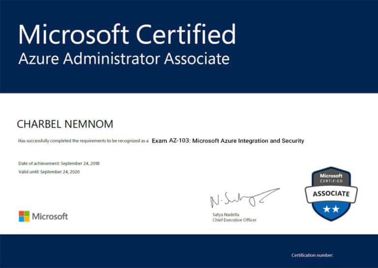 Exam-AZ-103-Microsoft-Azure-Integration-and-Security