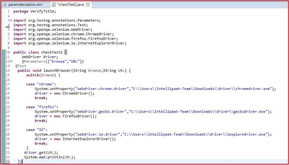 parameterization code
