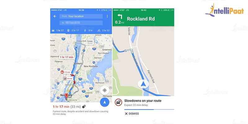 Google Map-Applications of Machine Learning-Intellipaat