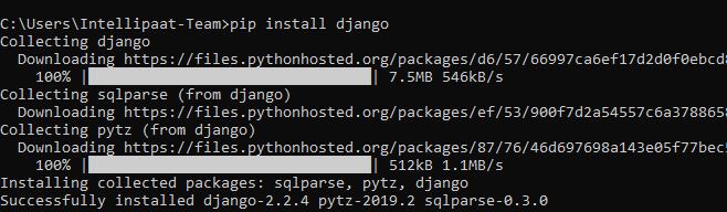 Django installation