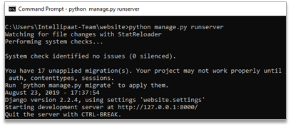 boot up the web server and run the following command