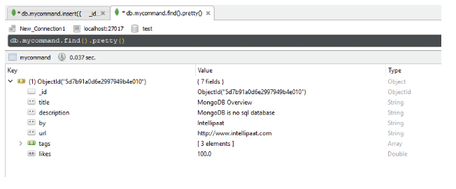 mongodb find command - Intellipaat