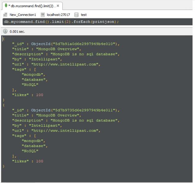 mongodb limit command - Intellipaat