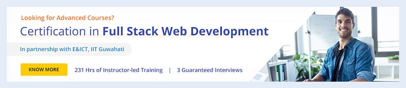Certification in Full Stack Web Development