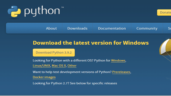 Download the latest version of Python from here