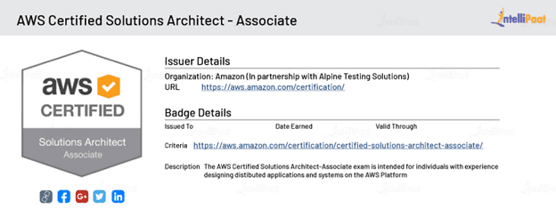 AWS Security Certification Badge