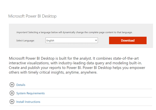 How to install Power BI Desktop
