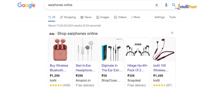 Example of a PPC ad on Google
