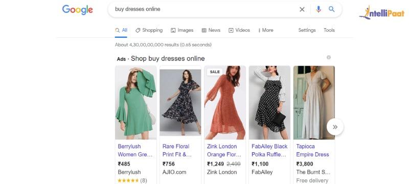 PPC ad example on google