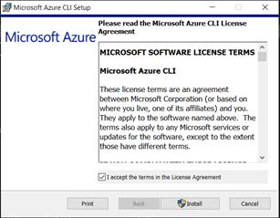 Azure CLi MSI Installer