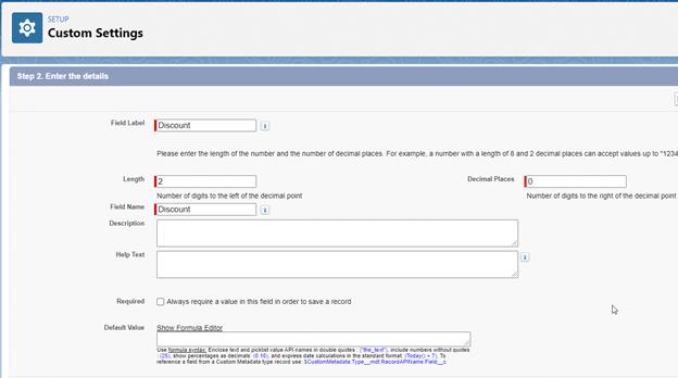 Salesforce Hierarchy Custom Settings step 3