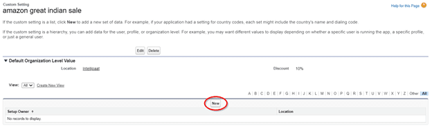 Salesforce Hierarchy Custom Settings step 6