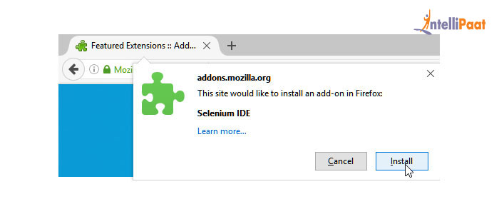 Selenium IDE installation procedure