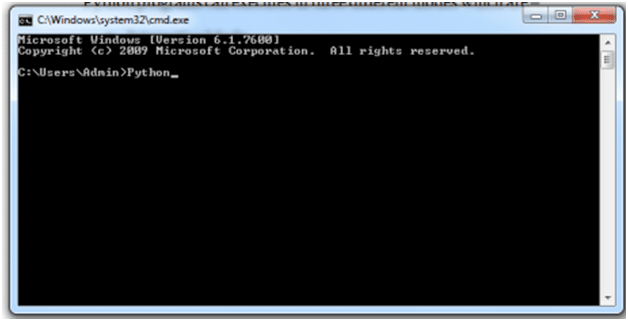 Interactive Mode - Command Prompt Window