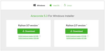Step 1: Anaconda Python for windows installer