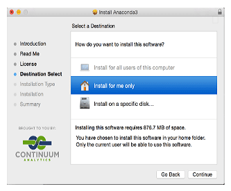 Step 2: install Anaconda3 popup window