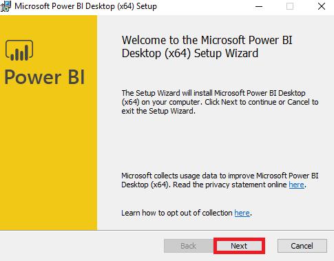 Steps 3 to Install Power BI
