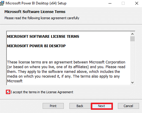 Steps 4 to Install Power BI