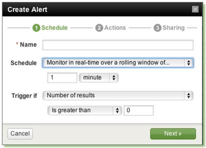 scheduling an alert