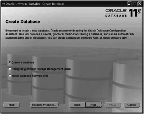 choose to install asm in oracle database 11g r1 or earlier versions