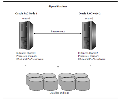 oracle rac servers share the same database on all nodes